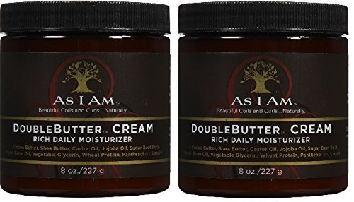 As I Am Double Butter Rich Daily Moisturizer, 8 Ounce (2 Pack)