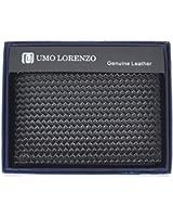 Umo Lorenzo Men's Genuine Braided Leather Bi-fold Wallet