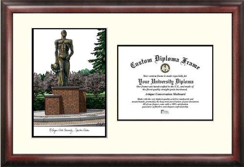 Michigan University Framed Lithograph - Campus Images MI987V Michigan State University, Spartan, Scholar Diploma Frame, 8.5