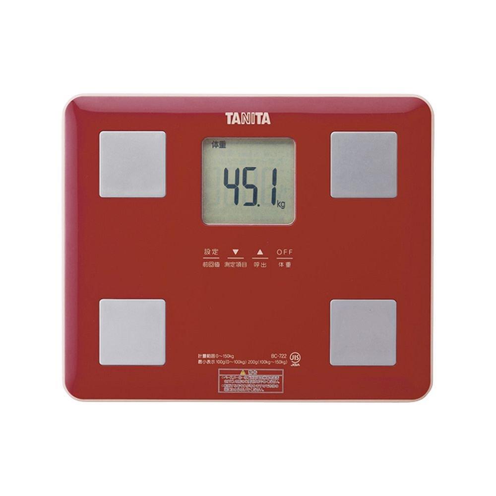 (まとめ買い) タニタ 体組成計 レッド BC-722-RD 【×2】 B01NH9QUJ7