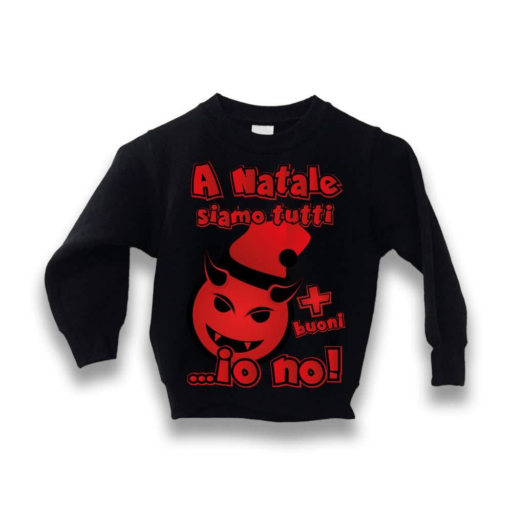 Altra Marca Felpa Bimbo Natalizia Personalizzata A Natale Siamo Tutti più Buoni Maglione Caldo per Bambini Idea Regalo