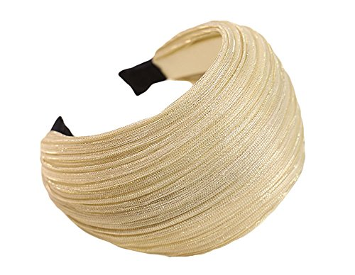 Qiabao Wide Bling Pleat Hard Headband Hair Band