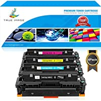 TRUE IMAGE 4Pack High Yield Compatible Canon Cartridge 046 046H CRG 046 046H for Canon Color ImageCLASS MF733Cdw, ImageCLASS MF731Cdw, ImageCLASS MF735Cdw, LBP654Cdw Laser Printer Toner Cartridge