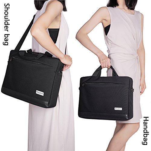 Laptop Bag, Mayetori 15.6 Inch Laptop Briefcase for Men Women College Student, Business Computer Messenger Shoulder Bag, Water Resistant Laptop Case for Notebook MacBook Tablet by Mayetori (Image #6)