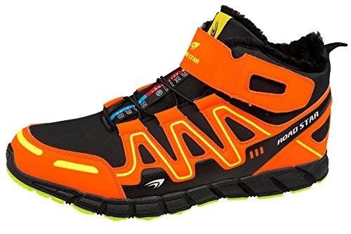 gibra , Chaussures de course pour homme Schwarz/Neonorange