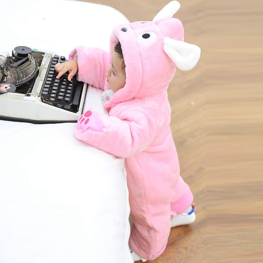 Unisex Baby Pl/üsch Overall f/ür 0-24 Monate Junge M/ädchen Strampler Spielanzug Tier Jumpsuit Daunenmantel mit Kapuzen Warme Winter S/äugling Spielanzug Schlafanzug Outfit Wintermantel Zhen