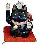 Maneki Neko - Japanese Lucky Cat - Black (#7144BK)