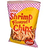 Calbee Shrimp flavored chips baked 4oz (Pack of 6)