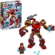 LEGO Marvel Avengers Iron Man Mech 76140 Kids' Superhero Mech Figure, Building Toy with Iron Man Mech and Mini
