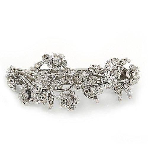 Avalaya Bridal Wedding Prom Silver Tone Diamante 'Intertwined