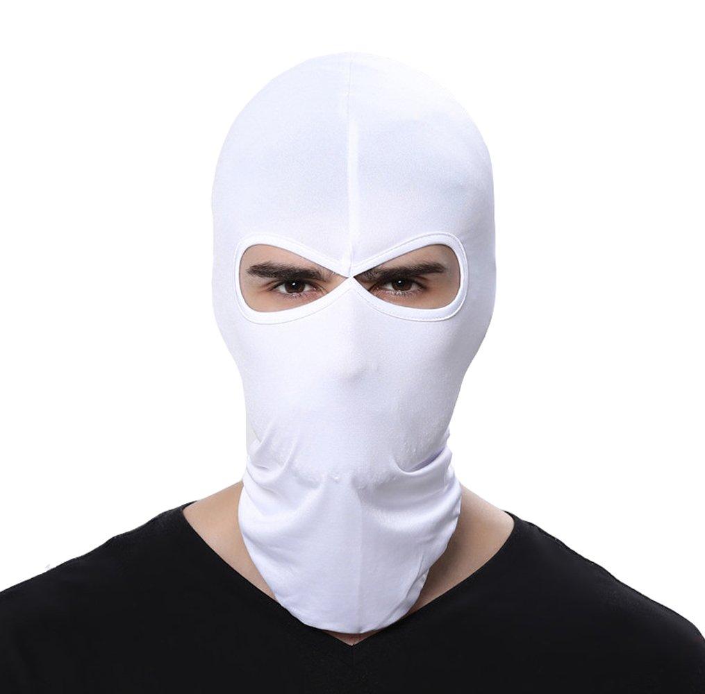 GANWAY Wind Cap Motorcycle Ski Masks Balaclavas Outdoor Sports Cycling Hat (White)