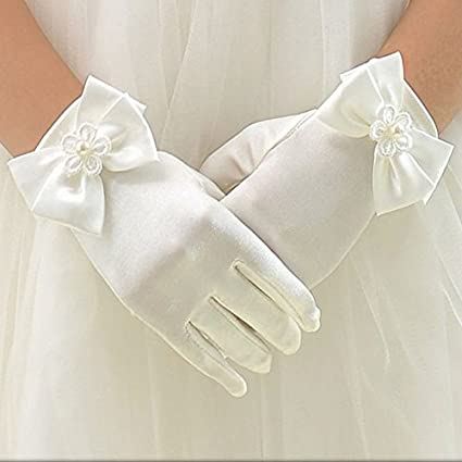 Amazon.com: WHITE SATIN GLOVE WITH DIAMANTE CROSS FIRST COMMUNION GIRL CHILDS DRESS/VEIL by Harrington Marley: Appliances