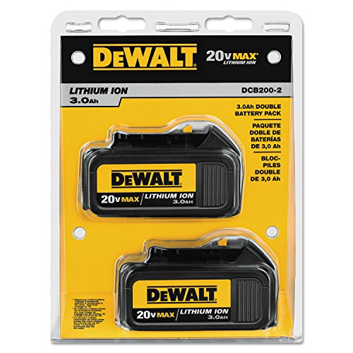 Dewalt Batteries Two Pack - DEWALT DCB200-2 20-Volt MAX Li-Ion 3.0 Ah Battery 2-Pack