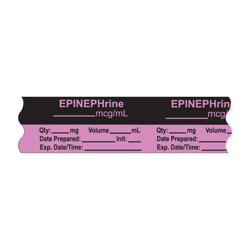 PDC Healthcare AN-2-6 Anesthesia Tape with Exp. Date, Time, and Initial, Removable,EPINEPHrine mcg/mL, 1'' Core, 3/4'' x 500'', 333 Imprints, 500 Inches per Roll, Violet (Pack of 500)