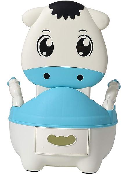 Glenmore T/öpfchen f/ür Kinder Baby WC Babytopf Potty Toilette mit Deckel Gepolstertes Junge Blau Kalb