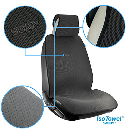 sojoy summer cooling four seasons car seat cushions for front two seats comes with 2 pieces. Black Bedroom Furniture Sets. Home Design Ideas