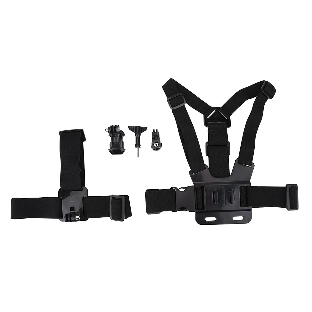 Lightweight Action Camera Adjustable Helmet Strap Chest Harness Mount Accessory for Gopro
