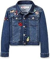 RED WAGON Badge Denim Jacket Chaqueta para Niñas, Azul (Multi), 4 años