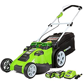Greenworks 20-Inch 40V Twin Force Cordless Lawn Mower 25302