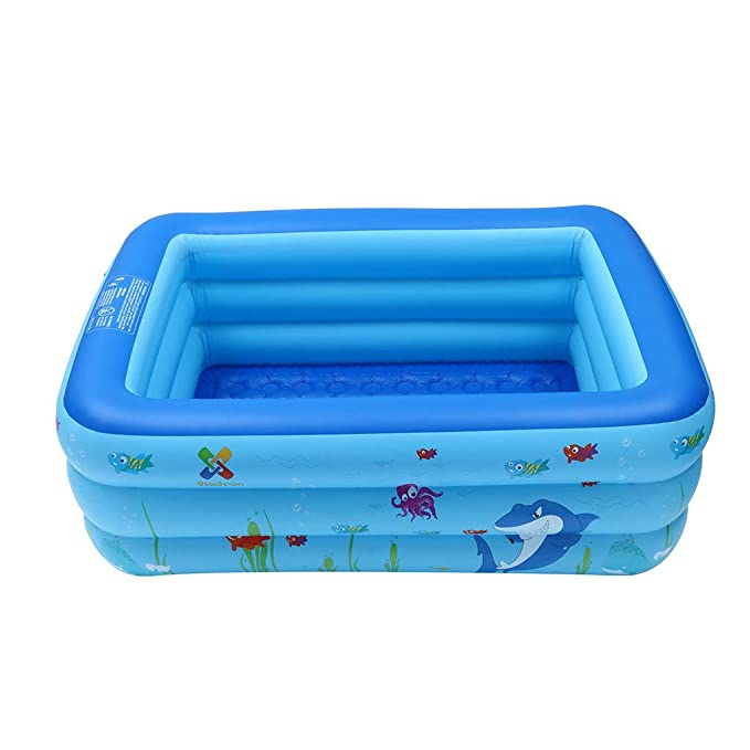Amazon.com: Kiddie Pool, piscina hinchable rectangular para ...