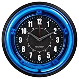 Sterling and Noble 11 Neon Wall Clock, Neon Blue by Sterling & Noble