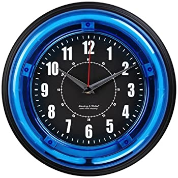 Amazon Com Sterling And Noble 11 Neon Wall Clock Neon