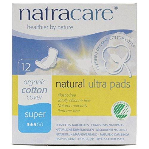 Natracare Organic Natural Ultra Super Pads 12 per pack