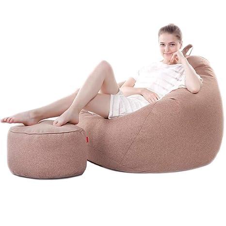 Amazon.com: Puff grande Lazy para sofás, sillas y reposapiés ...