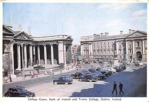 College Green, Bank of Ireland and Trinity College Dublin Ireland Postcard