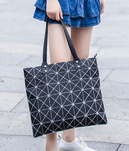 Borse Moda Cuciture Tracolla Diamanti Geometriche Donna Borse Borse Black A U80qx