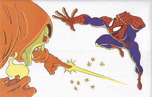 Spider-man the Animated Series Hobgoblin Vs Spider-man Acetate Animation Cel by Marvel Comics Group