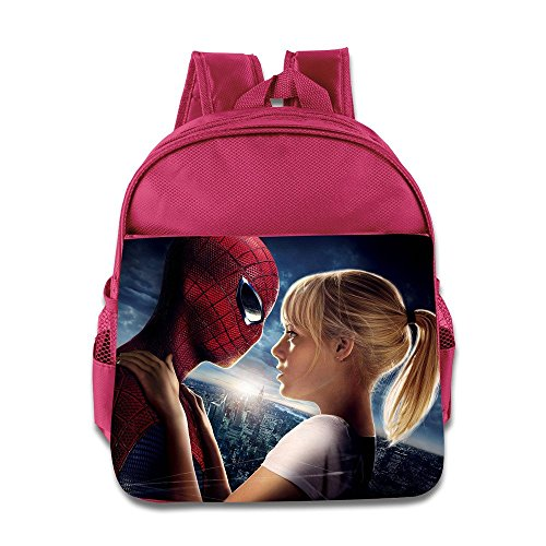 Kids The Amazing Spider-Man School Backpack Cute Baby Boys Girls School Bag Pink (The Amazing Spider Man 2 Suit For Kids)