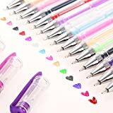 Ohuhu 60 Color Gel Pen Set / Drawing Pens for Coloring book, Sketching, Drawing, Painting and Writing