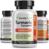 Turmeric Curcumin with BioPerine (Black Pepper Extract) – Joint Pain Relief – Natural Anti-Inflammatory and Antioxidant – 1300mg – 95% Standardized Curcuminoids – 60 Vegetarian Capsules – V-HealthTech For Sale