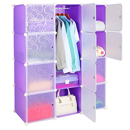 Leapair Multi Function 12 Cube Diy Wardrobe Plastic