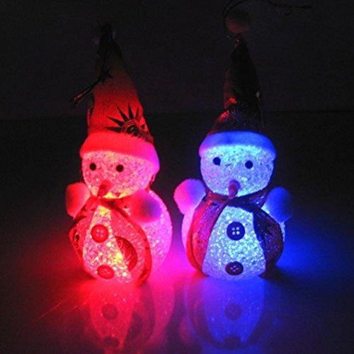 1PC Light Up Glowing Snowy Snowman Warm White LEDs Christmas Xmas Decoration Figure