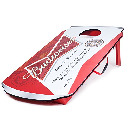 Budweiser Can Design Cornhole Bean Bag Toss Game Set - Includes 2 Bonus Beand Bags (10 total)! by TMG