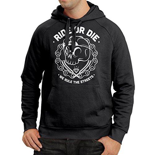 (Hoodie Ride or Die (X-Large Black Multi Color))