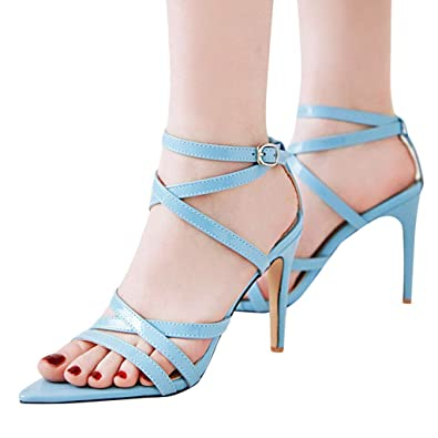 48c40a0fc971a Amazon.com: My Heat Women High Heel Sandals Shoes,Women's Sexy ...