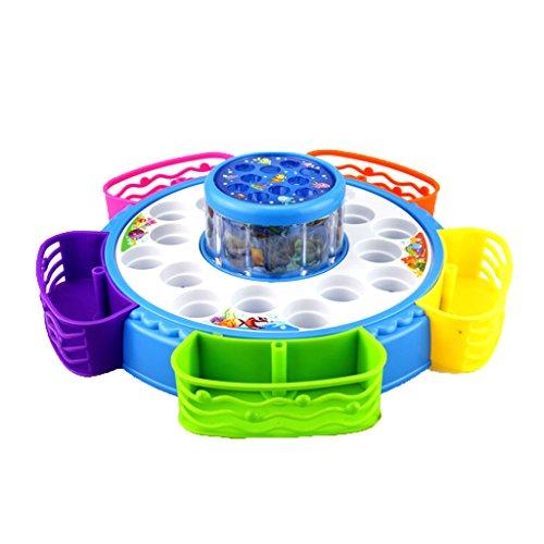 Baoblaze Set de Jeux de Pêche Magnétique avec Son Léger de Musique en Plastique Jouets éducatifs pour les Enfants Coloré