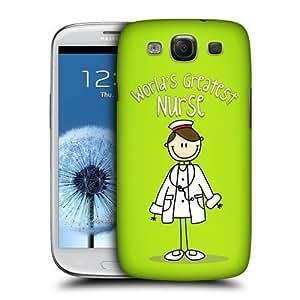 AIYAYA Samsung Case Designs Nurse World's Greatest Profession Protective Snap-on Hard Back Case Cover for Samsung Galaxy S3 III I9300