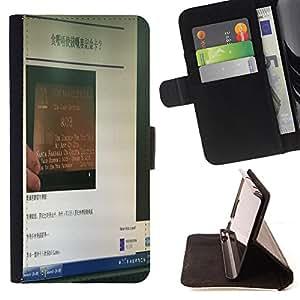Devil Case- Estilo PU billetera de cuero del soporte del tir¨®n [solapa de cierre] Cubierta FOR Samsung Galaxy S5 Mini SG870a, SM-G800- Light funny