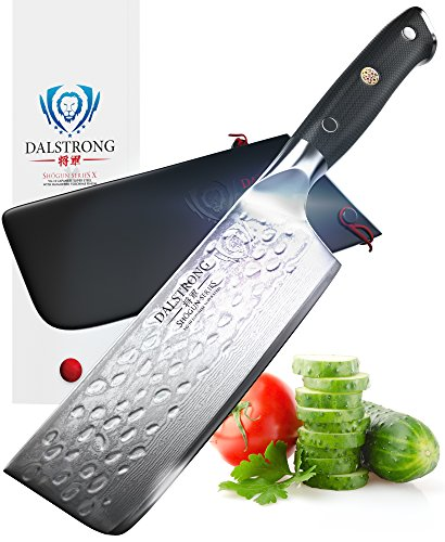 DALSTRONG Nakiri Vegetable Knife - Shogun Series X - VG10 - Hammered Finish - 6
