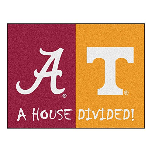 House Divided Area Rug Tennessee Volunteers - Alabama Crimson Tide