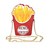 Easydeal Novelty Crossbody Bags Shoulder Bags Handbag for Woman (French Fries)