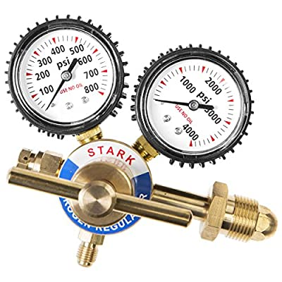 STKUSA Welding Nitrogen Regulator With Pressure Gauge CGA580 Inlet Connection and 1/4-Inch Male Flare Outlet Connection