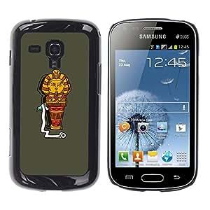 Be Good Phone Accessory // Dura Cáscara cubierta Protectora Caso Carcasa Funda de Protección para Samsung Galaxy S Duos S7562 // Egypt Funny Cartoon Character Pharaoh