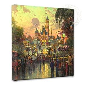 Thomas Kinkade – Gallery Wrapped Canvas , Disneyland 50th Anniversary , 14″ x 14″ , 55383
