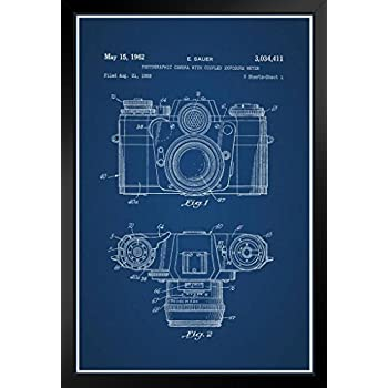 Amazon proframes retro arcade video game cabinet official proframes sauer vintage camera 1962 official patent blueprint framed poster 12x18 malvernweather Image collections