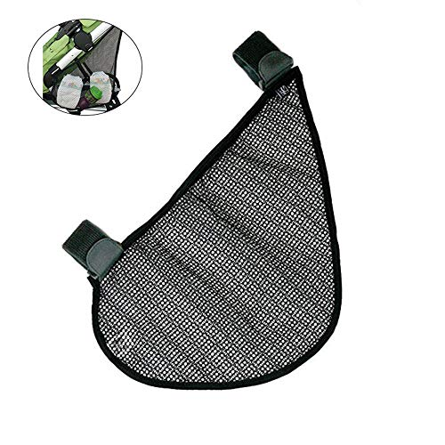 KOBWA Side Sling Stroller Cargo Net, Baby Stroller Bag Organizer, Black